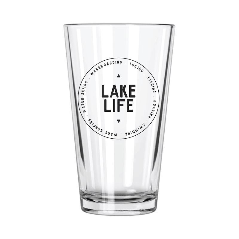 Lake Life: Badge Pint Glass