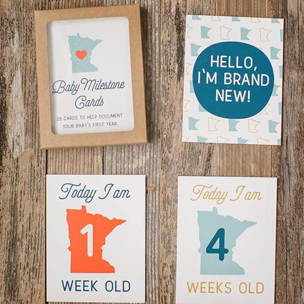 Minnesota Baby Photo Milestone Cards