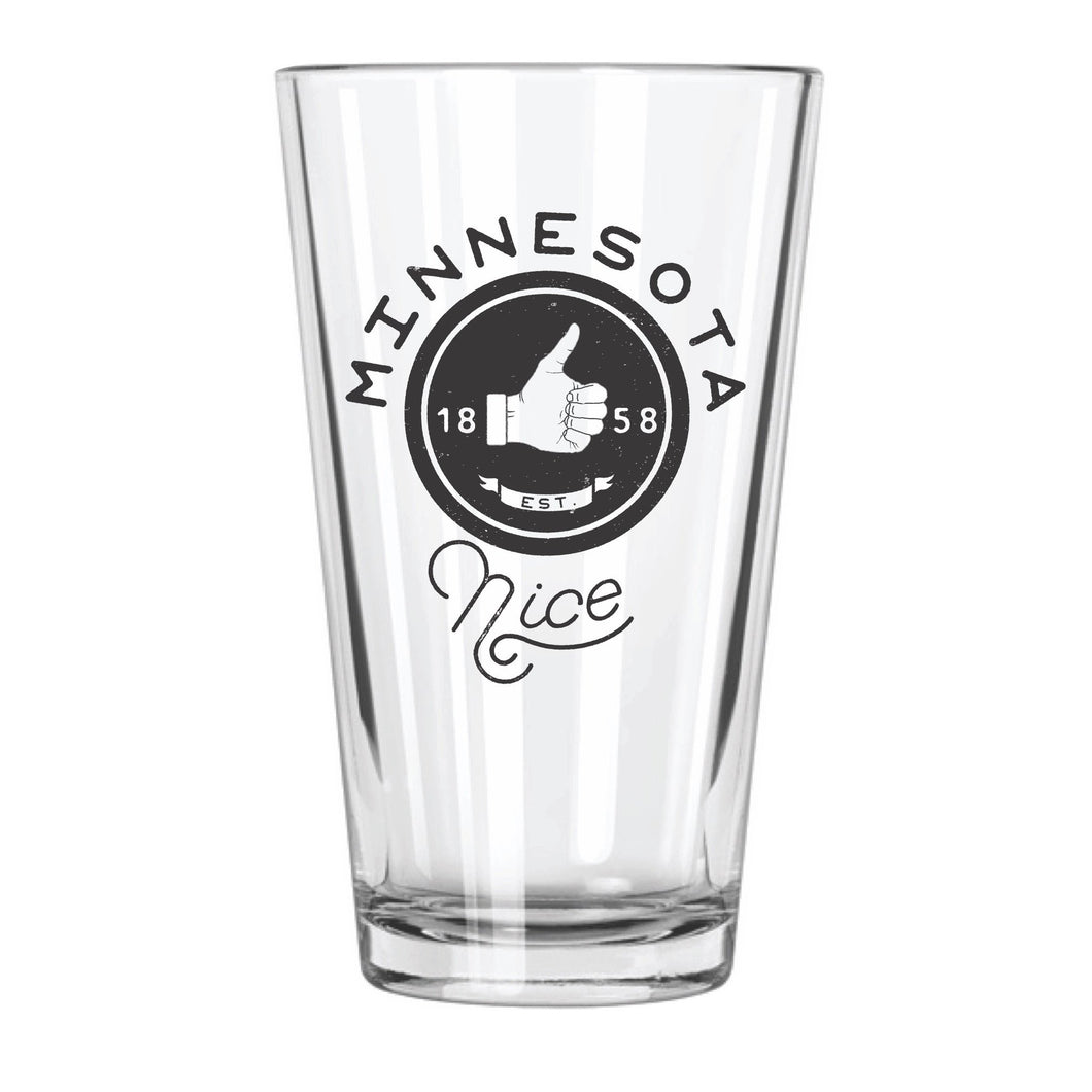 Minnesota Nice Pint Glass