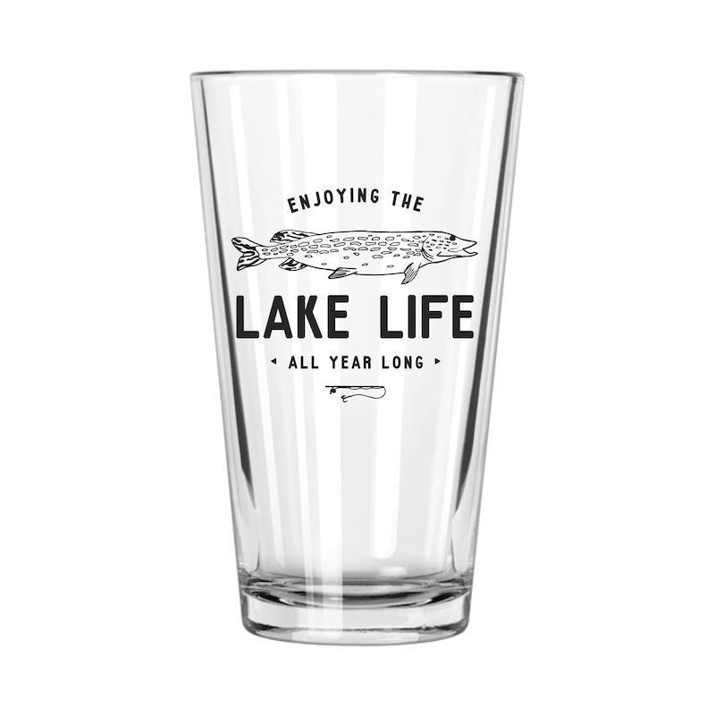 Lake Life: Fishing Pint Glass