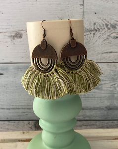 Metal & Fringe Earrings