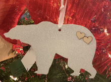 Load image into Gallery viewer, White Bear Laser Cut Ornament