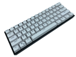 Hayabusa 60% Keyboard - White - Alpherior Keys