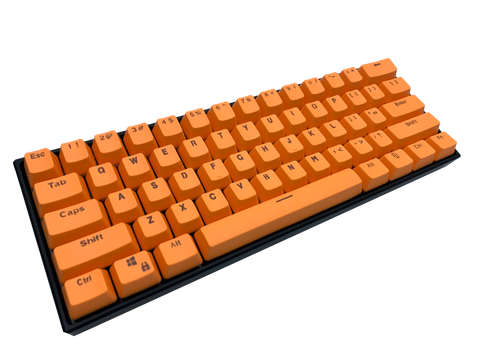 Hayabusa 60% Keyboard - Orange - Alpherior Keys