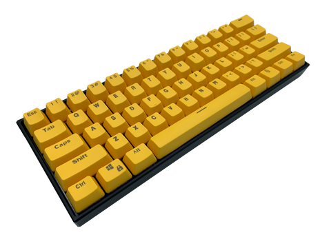 Hayabusa 60% Keyboard - Yellow - Alpherior Keys
