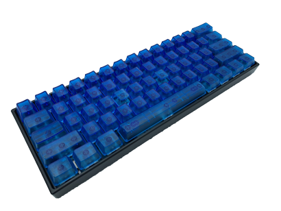 Blue Keycap Set (Translucent) - Alpherior Keys