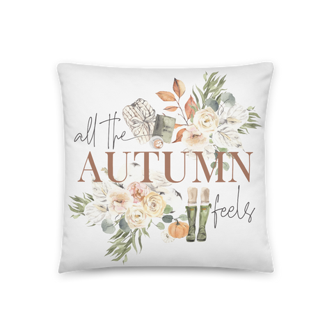 'All the Autumn Feels' Throw Pillow