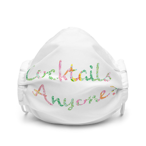 'Cocktails Anyone?' Premium face mask