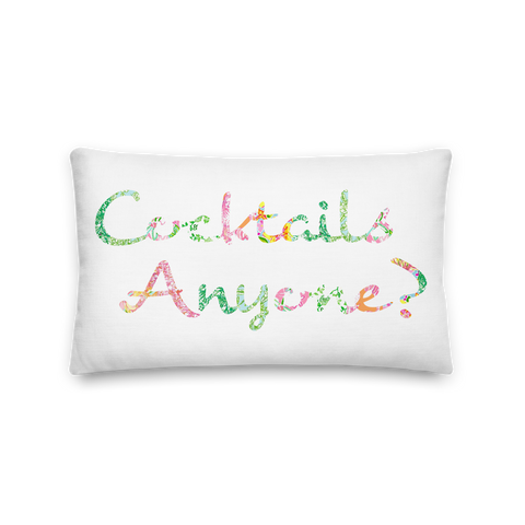 'Cocktails Anyone?' Premium Pillow