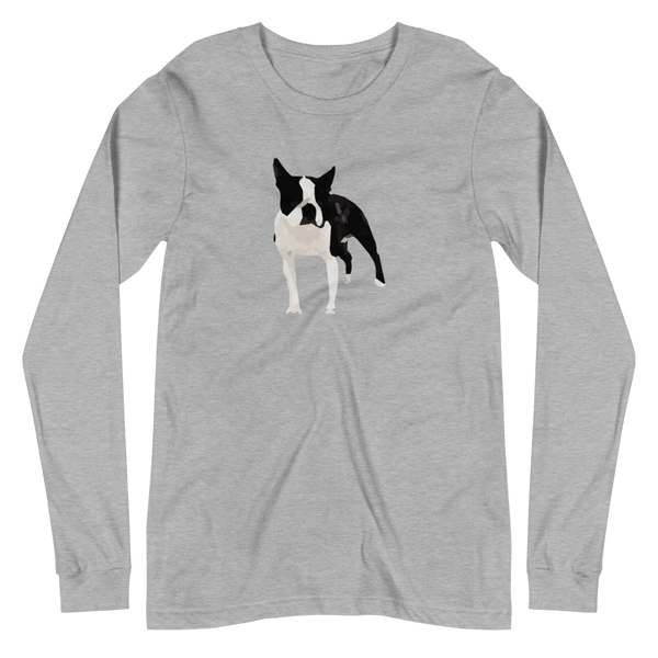 'Boston Terrier' Unisex Long Sleeve Tee