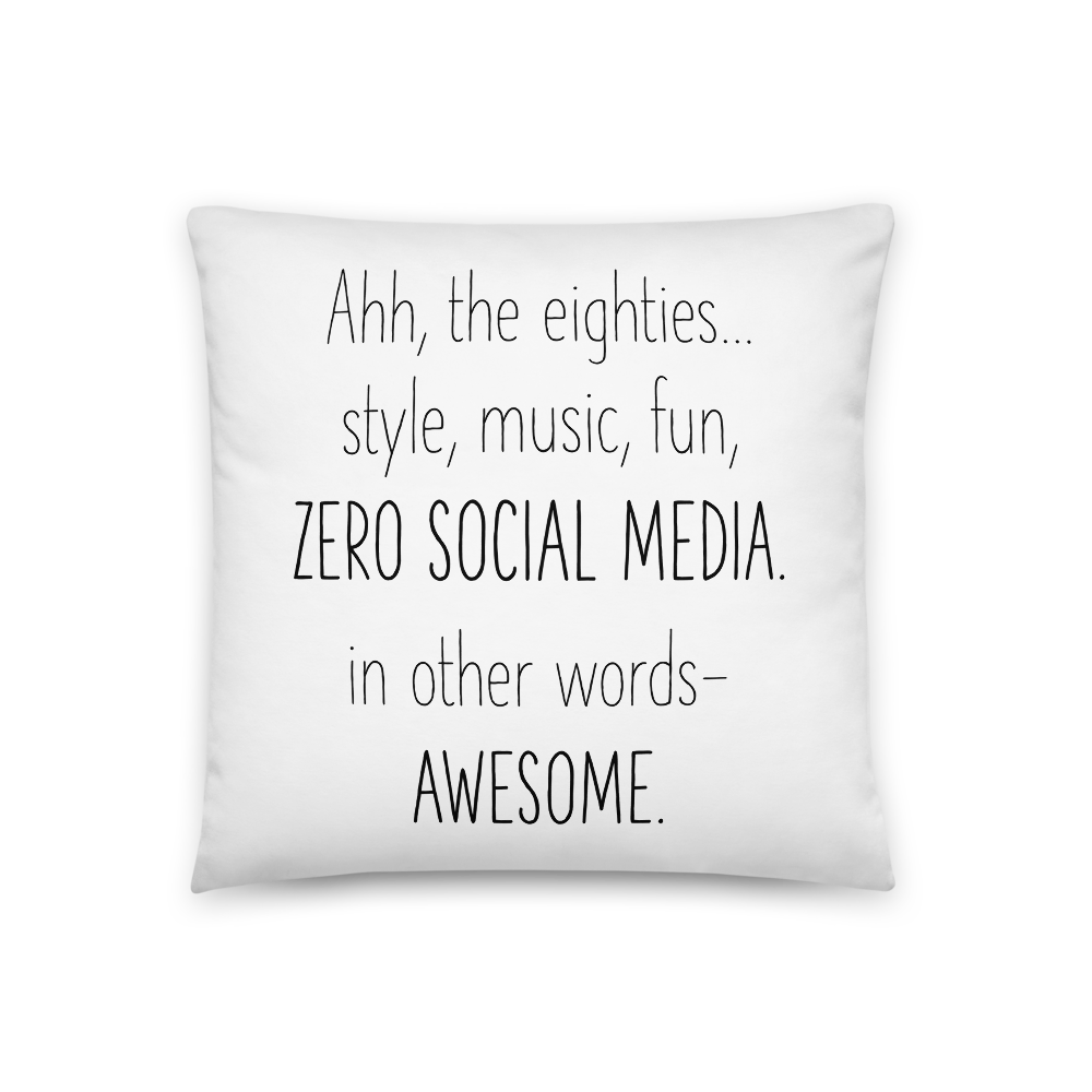 'Ahh the Eighties...' Throw Pillow