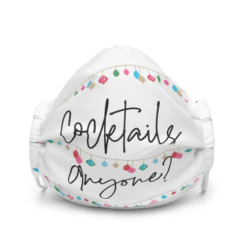'Cocktails Anyone?' Face Mask