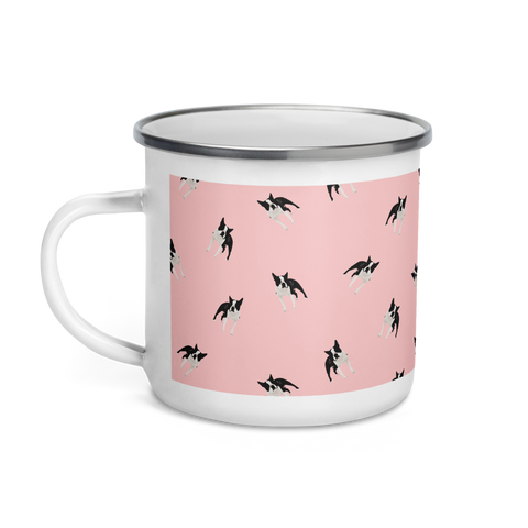 'Boston Terrier' Enamel Mug