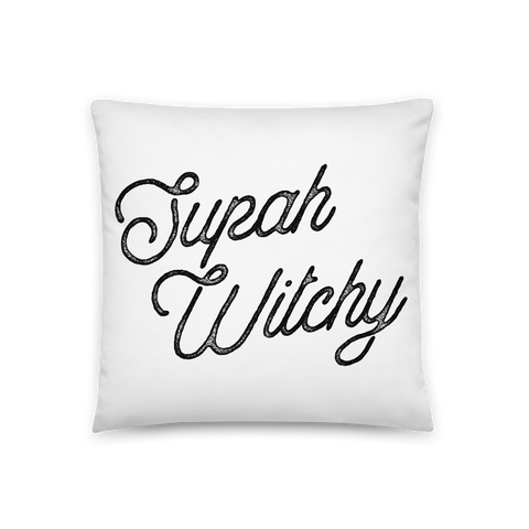 'Supah Witchy' Throw Pillow