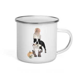 'S'mores Anyone? Boston Terrier' Enamel Mug