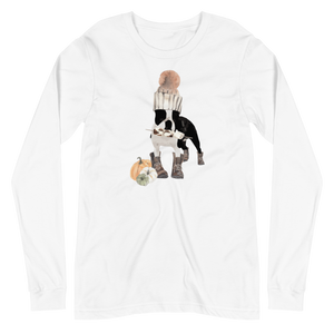 'S'mores Anyone? Boston Terrier' Unisex Long Sleeve Tee