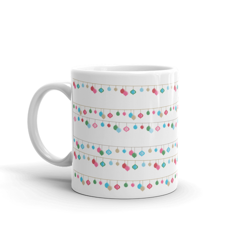 Holiday String Light Print Mug
