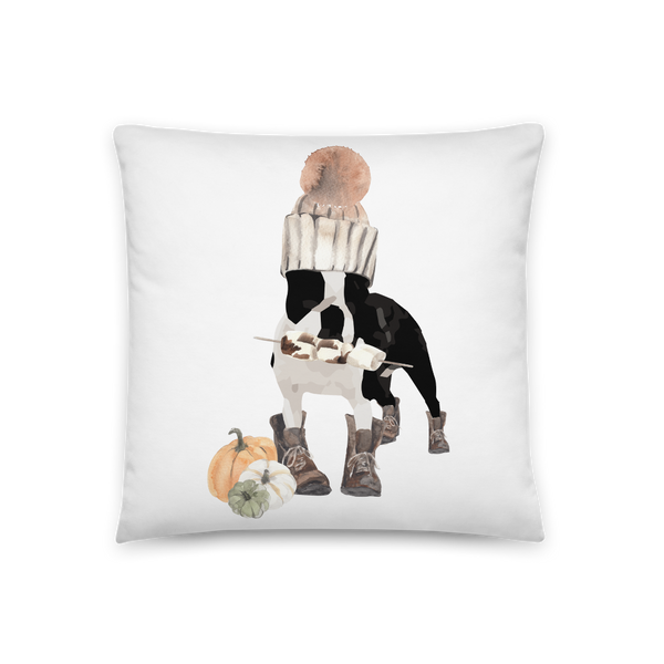 'S'mores Anyone? Boston Terrier' Throw  Pillow