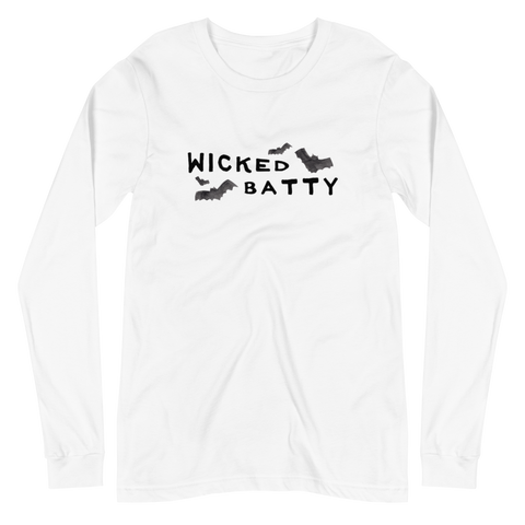 'Wicked Batty' Unisex Long Sleeve Tee