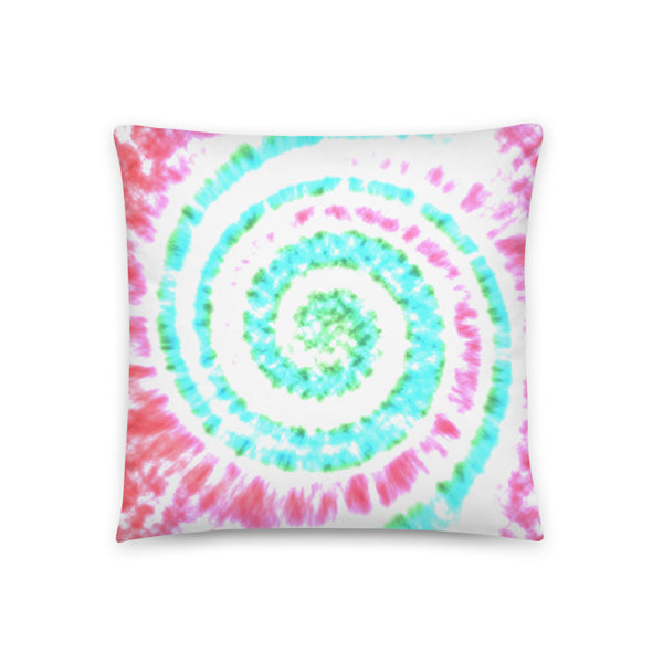 Festive Holiday Tie Dye Throw Pillow