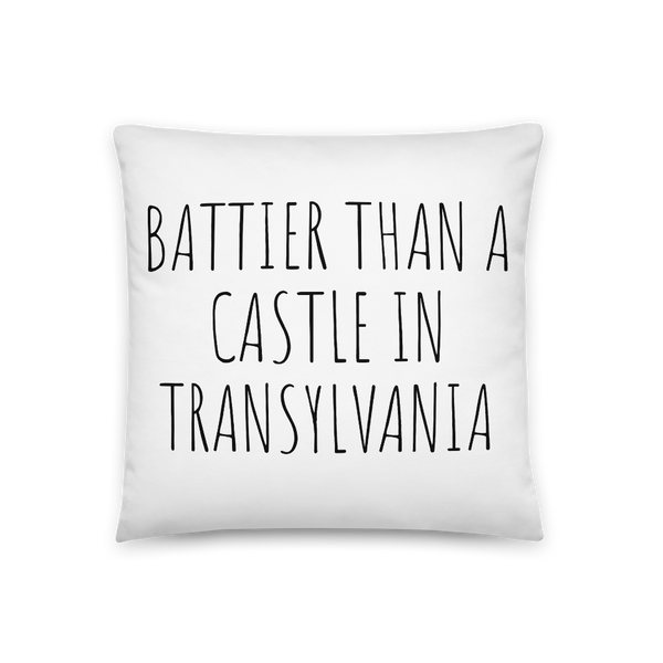 'Battier Than A Castle In Transylvania' Throw Pillow