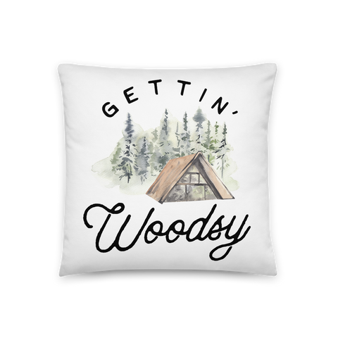 'Gettin' Woodsy' Throw Pillow