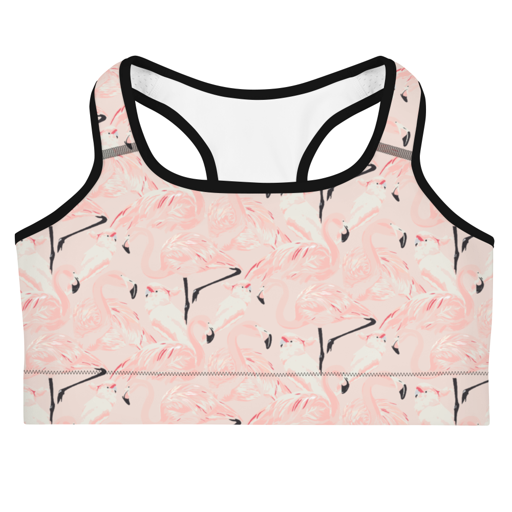 'Happy Flamingo' Sports bra