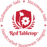 Celebrating You 3 Piece Collection: Red Plate, Red Mug, and Red Bowl