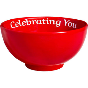 Celebrating You Red Bowl