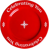 Celebrating You Red Plate