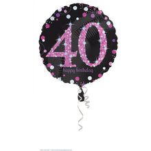 Load image into Gallery viewer, Black and Pink Sparkling Foil (Various Ages)