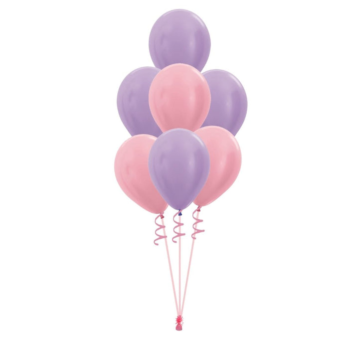 Pink & Lilac helium bunch