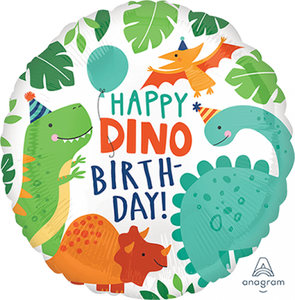 Happy Dino Birthday foil balloon