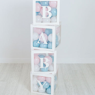 balloon filled baby boxes