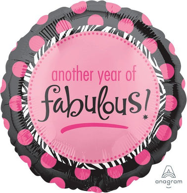 another year of fabulous pink dot foil balloon