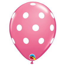 Load image into Gallery viewer, qualatex rose polka dot latex balloon