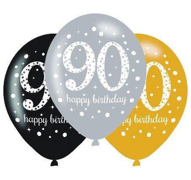 sparkly_90_ happy birthday latex printed balloon