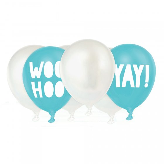 Packet of 6x 30cm Woo Hoo Balloons