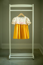 Load image into Gallery viewer, Vintage Floral Mustard Dress