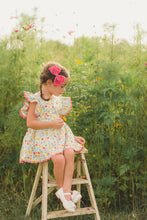 Load image into Gallery viewer, Floral & Gingham Pinafore Set
