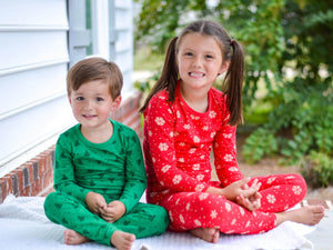 Green Tree Pajamas - Kids