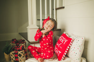 Red Snowflake Pajamas - Kids