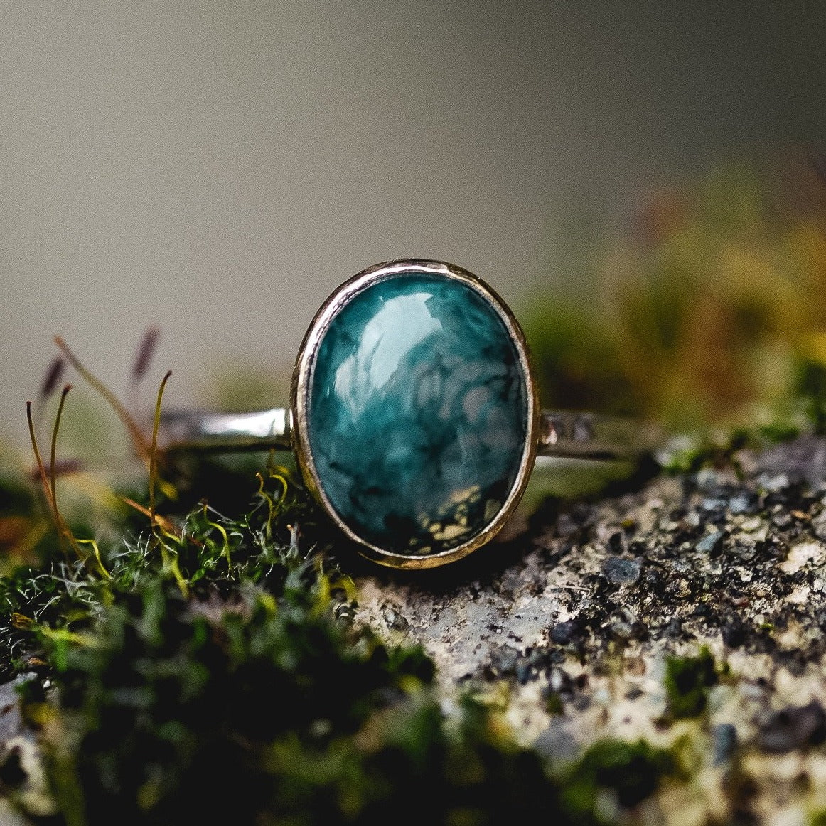 Caitlyn Chapman - Moss Agate Ring