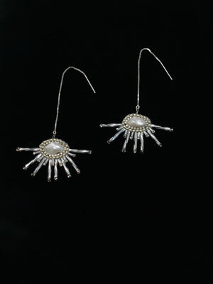 FRNGE - Cirrus - Silver Threader Earrings
