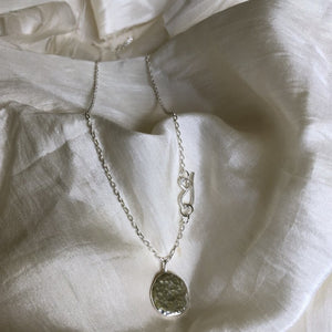 Mellow Moon Jewelry: Hammered Recycled Silver Full Moon Pendant