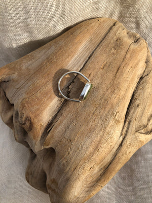 Mellow Moon Jewelry:  Local Beach Stone Stirrup Rings