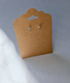 Mellow Moon Jewelry: Silver Crescent Moon Stud Earrings