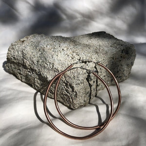 Mellow Moon Jewelry: Recycled Copper Hoop Earrings