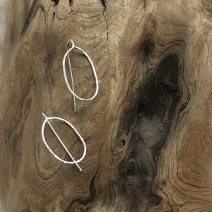 Mellow Moon Jewelry:  Silver Oval Threader Earrings
