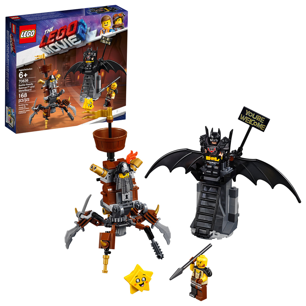 THE LEGO® MOVIE 2™ Battle-Ready Batman™ and MetalBeard - 70836